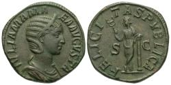 Ancient Coins - Julia Mamaea. Æ Sestertius. Mother Of Severus Alexander. Felicitas.