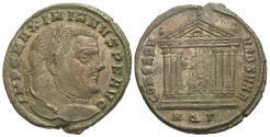 Ancient Coins - Maximianus. Follis. Aquileia Mint. Roma Within Temple.