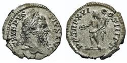 Ancient Coins - Septimius Severus. Denarius. Genius.