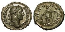 Ancient Coins - Severus Alexander. Denarius. Annona. Choice Example.