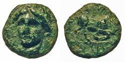 Ancient Coins - Ionia, Phygeia. Æ 8 mm. Artemis / Bull Butting.