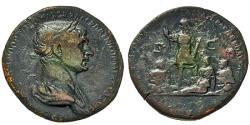 Ancient Coins - Trajan. Sestertius. Mesopotamia, Tigris & Euphrates.