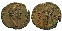 Ancient Coins - Antoninus Pius. As. Fortuna. Early Portrait.