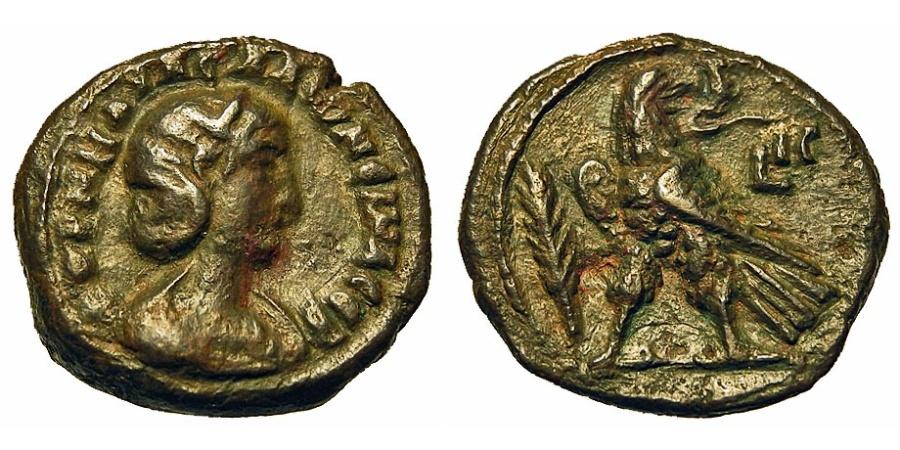 Ancient Coins - Roman Egypt. Salonina - Wife Of Gallienus. Billon Tetradrachm. Year 13.