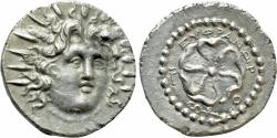 Ancient Coins - Islands off Caria. Rhodes. AR Drachm. Euphranor, Magistrate.