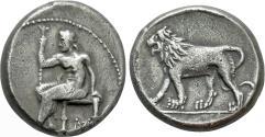 Ancient Coins - Persia, Alexandrine Empire. temp. Stamenes – Seleukos. Satraps of Babylon. AR Double Shekel.