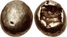 Ancient Coins - Ionia, Uncertain Mint. EL Hemihekte - Twelfth Stater.