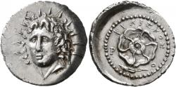Ancient Coins - Islands off Caria. Rhodes. AR Drachm. Splendid Portrait Of Helios.