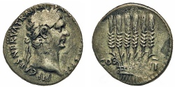 Ancient Coins - Cappadocia, Tyana. Trajan. Tridrachm. Bundle of Grain Ears.