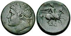 Ancient Coins - Sicily, Syracuse. Hieron II. Æ 26 mm.