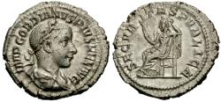 Ancient Coins - Gordian III. AR Denarius. Securitas. Choice.