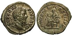 Ancient Coins - Septimius Severus. Denarius. Salus Feeding Snake.