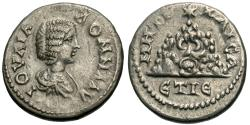 Ancient Coins - Cappadocia, Caesarea-Eusebia. Julia Domna. AR Drachm. Mt. Argaeus.