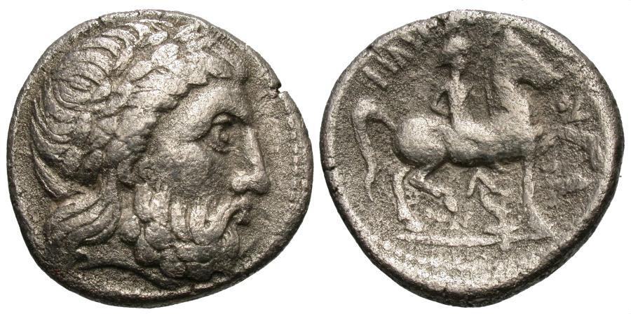 Ancient Coins - Danubian Celts. Imitating Philip II. AR Tetradrachm.