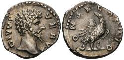 Ancient Coins - Divus Lucius Verus. AR Denarius. Choice!