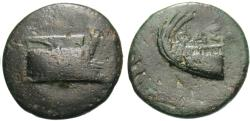 Ancient Coins - Lycia, Phaselis. Æ 19 mm. Prow / Stern.