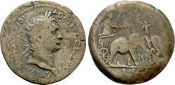Ancient Coins - Egypt, Alexandria. Domitian. Æ Drachm. Elephant Quadriga. VERY RARE.