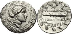 Ancient Coins - Macedon Under Roman Rule. AR Tetradrachm. Bold Style!