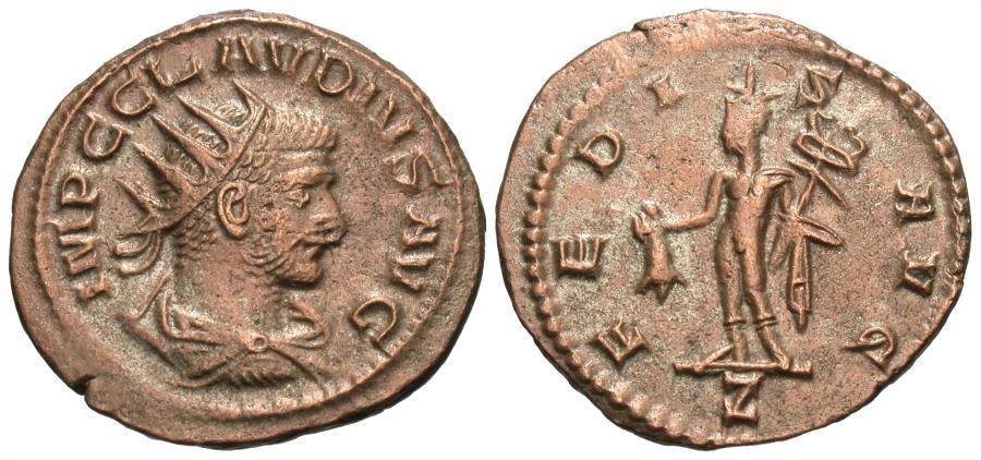 Ancient Coins - Claudius II Gothicus. Antoninianus. Mercury.