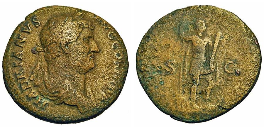 Ancient Coins - Hadrian. As. Hadrian as King of Egypt.