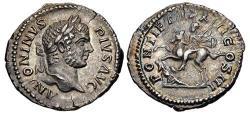 Ancient Coins - Caracalla. AR Denarius. Emperor On Horseback.