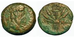 Ancient Coins - Roman Egypt, Alexandria. Claudius. Æ Diobol. Caduceus on Tripod.