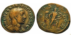Ancient Coins - Severus Alexander. Sestertius. Mars.