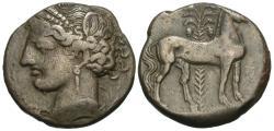 Ancient Coins - Zeugitania, Carthage. BI 2 Shekels. Tanit / Horse.