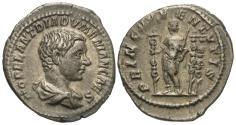 Ancient Coins - Diadumenian, as Caesar. AR Denarius.