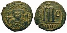 Ancient Coins - Maurice Tiberius. Follis. Theoupolis (Antioch) Mint.