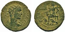 Ancient Coins - Samaria, Neapolis. Philip I. Goddess w/Two Lions. VERY RARE!