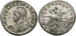 Ancient Coins - Probus. Antoninianus. Fully Silvered. Strong Portrait.