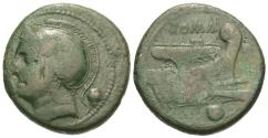 Ancient Coins - Roman Republic. Anonymous. Æ Uncia. Semi-Libral Standard.