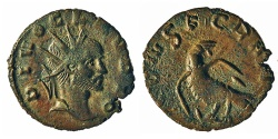 Ancient Coins - Claudius II, Gothicus. Barbarous Antoninianus. Eagle.