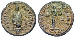Ancient Coins - Pagan Coinage Of The Great Persecution. Struck Under Maximinus II. Quarter-Nummus.