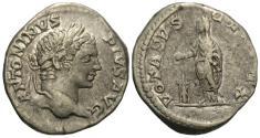 Ancient Coins - Caracalla. AR Denarius. Emperor Sacrificing.