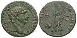 Ancient Coins - Trajan. Æ As. Victory. Fine Style.