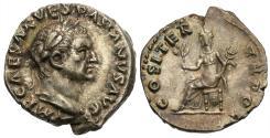 Ancient Coins - Vespasian. AR Denarius. Pax. Choice.