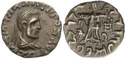 Ancient Coins - Baktria. Greco-Baktrian Kingdom. Zoilos II Soter. AR Drachm.