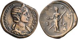 Ancient Coins - Julia Mamaea. Æ Sestertius. Vesta.