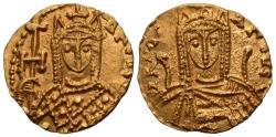Ancient Coins - Byzantine Empire. Irene. AV Solidus. Rare. Lustrous.