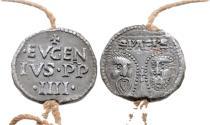 World Coins - Italy. Papal. Eugenius IV. Pb Bulla. RARE.