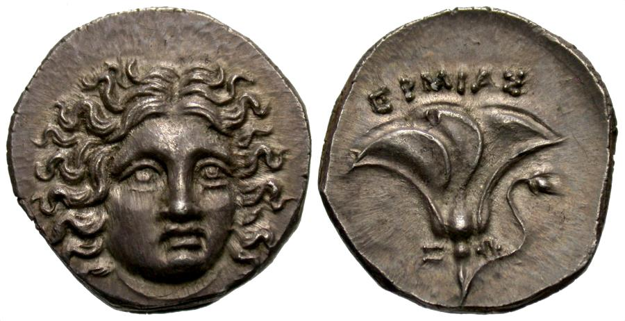 Ancient Coins - Kings Of Macedon. Perseus. AR Drachm. Third Macedonian War Issue. Hermias, Magistrate.
