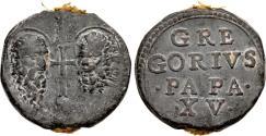 World Coins - Italy. Papal. Gregory XV. Pb Bulla or Seal.