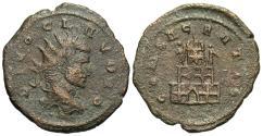 Ancient Coins - Claudius II Gothicus. Æ Antoninianus. Funeral Pyre. Rare.