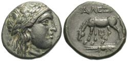 Ancient Coins - Troas, Alexandria Troas. Æ 18 mm. Apollo / Horse Grazing.