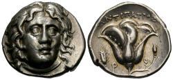 Ancient Coins - Islands off Caria. Rhodes. AR Didrachm. Choice!