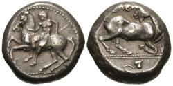 Ancient Coins - Cilicia, Kelenderis. AR Stater. Youth Dismounting / Goat.
