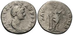 Ancient Coins - Julia Titi. Daughter of Titus. AR Denarius. Venus.