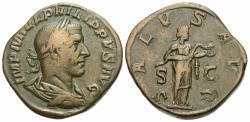 Ancient Coins - Philip I. Æ Sestertius. Salus.